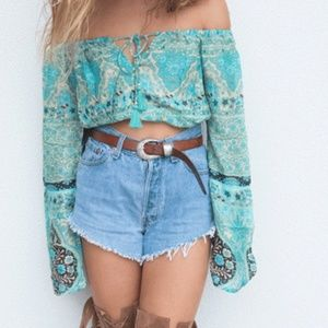 Spell & the Gypsy Collective Aloha Fox Crop Blouse